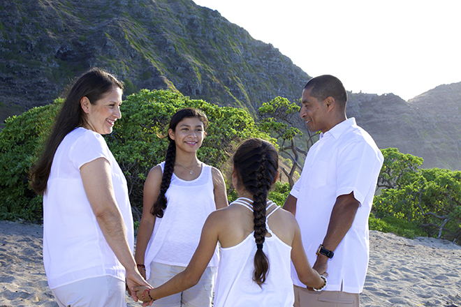 This is a recent 7 year vow renewal we did at Aloha Island Weddings