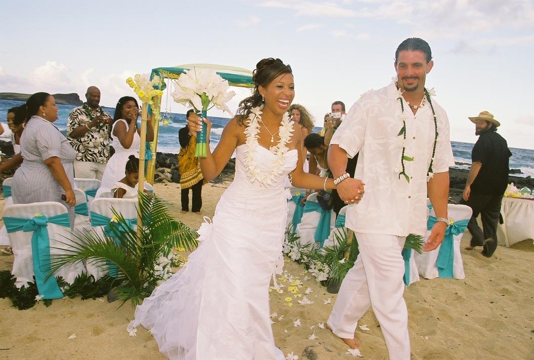 Jamillah Brandon Hawaiian Wedding
